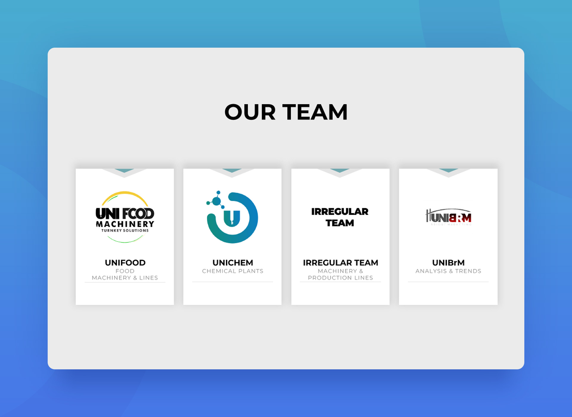 Our Team Presentation Page