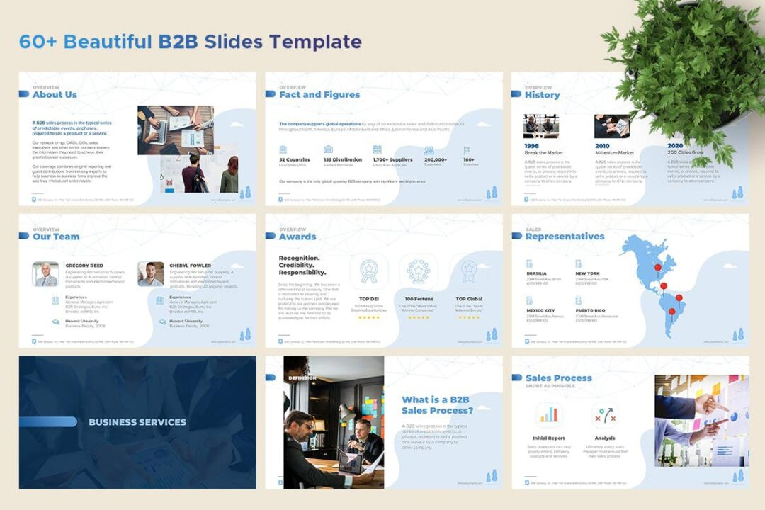 B2B Marketing and Sales PowerPoint Template