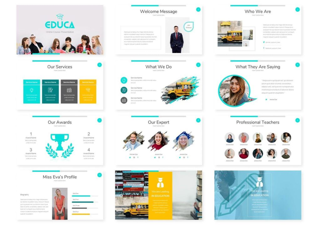 Educa Webinar PowertPoint Template