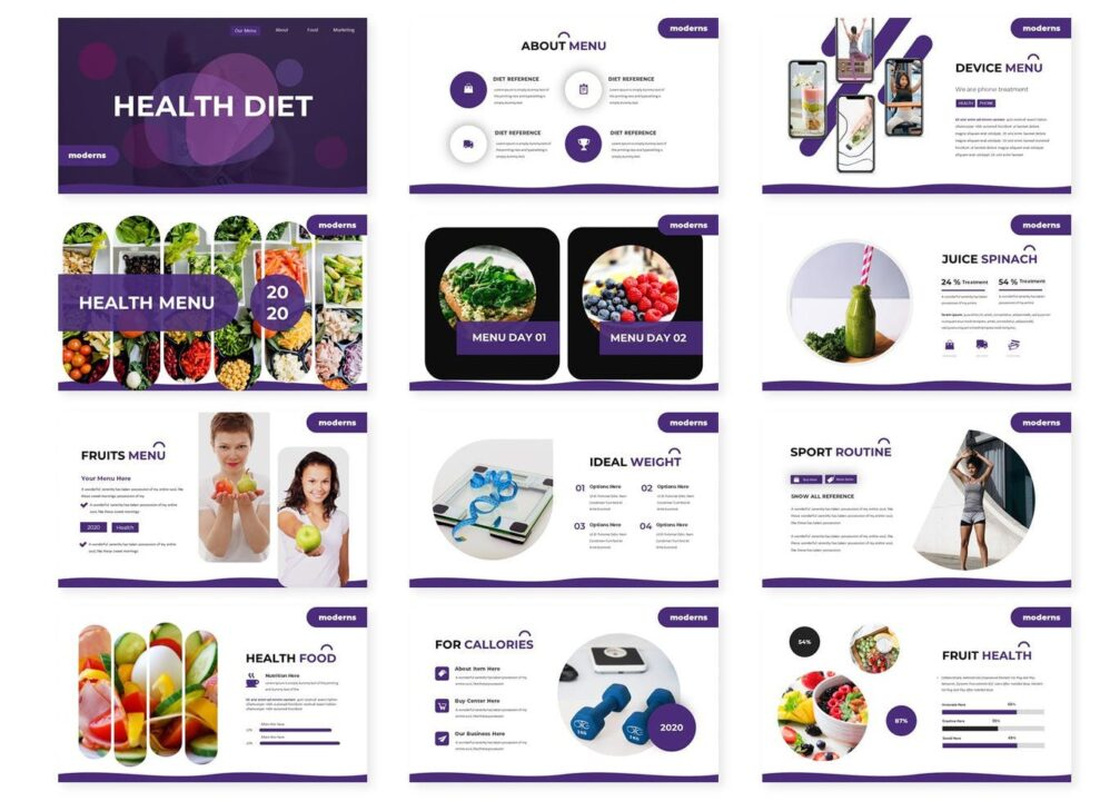 Health Diet PowerPoint Template