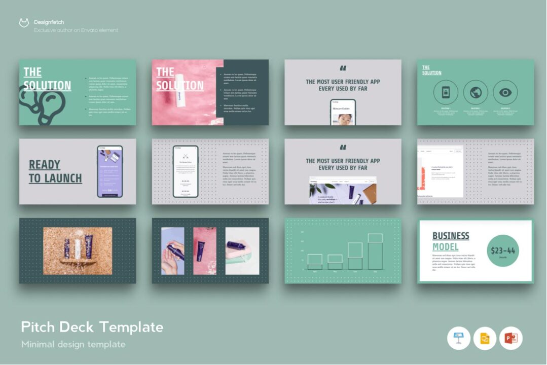 Investor Pitch Deck Template for Startups