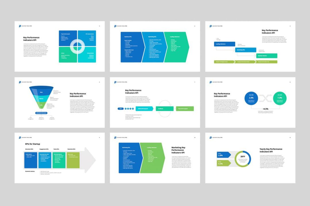 Marketing and Sales KPI PowerPoint Template