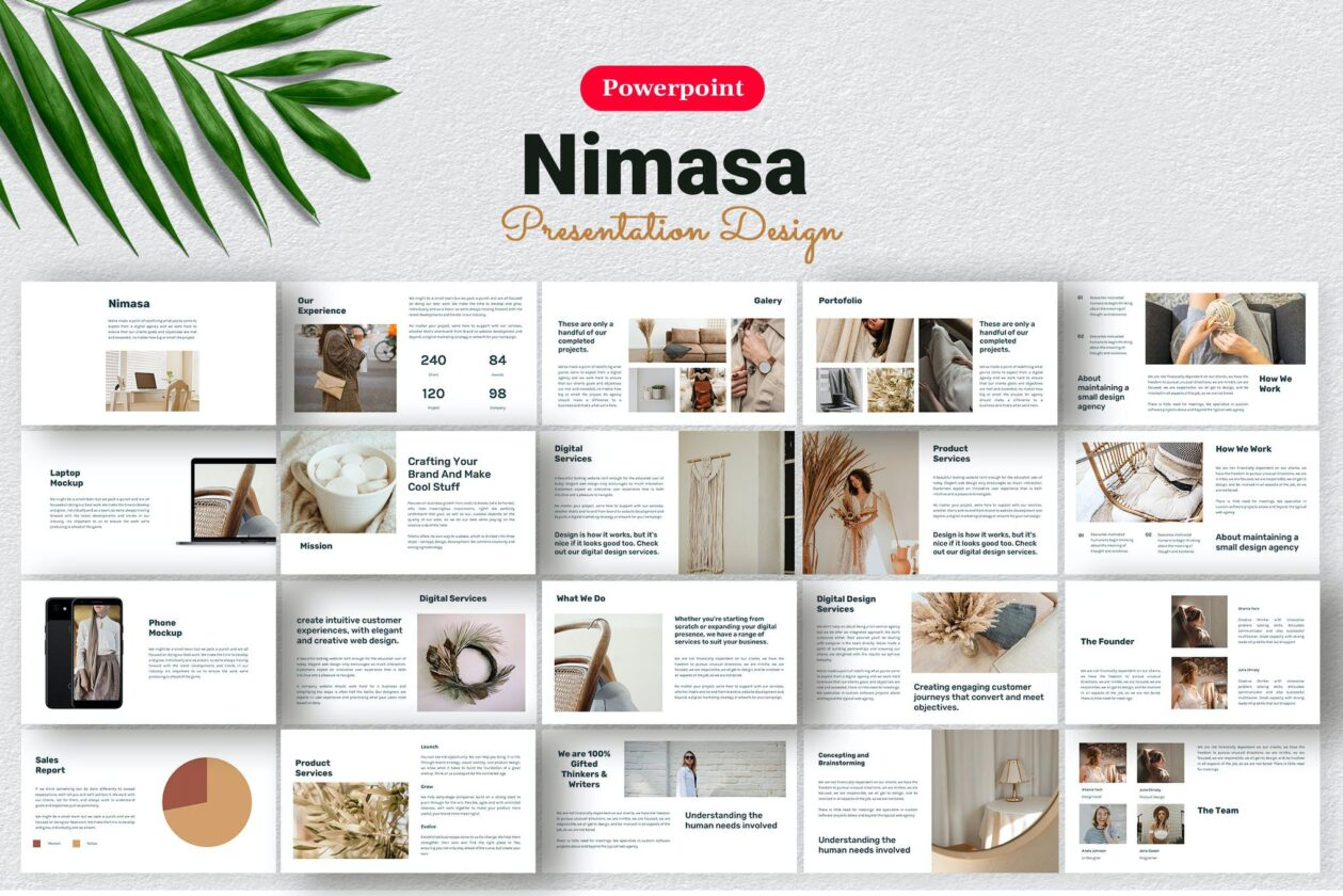 Nimasa Product PowerPoint Template