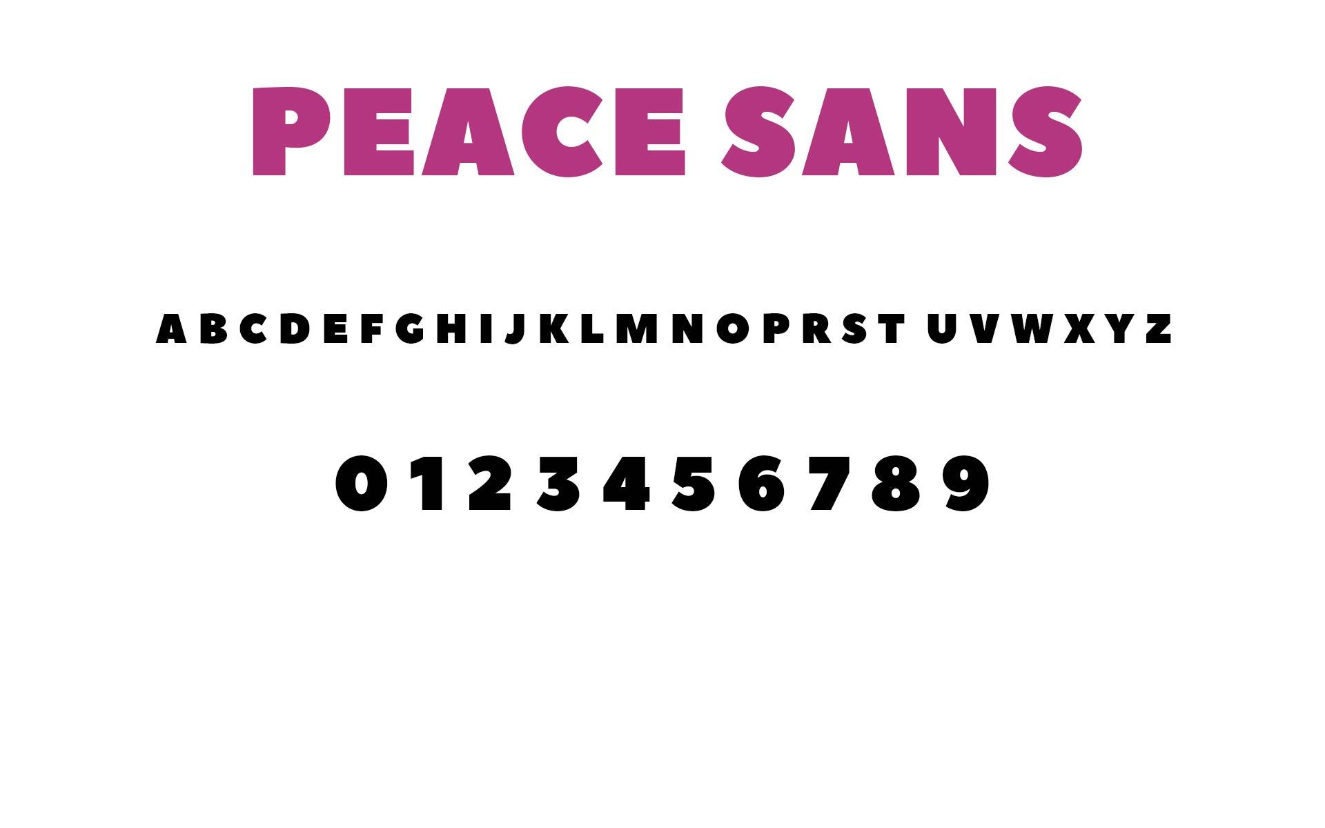 peace sans font