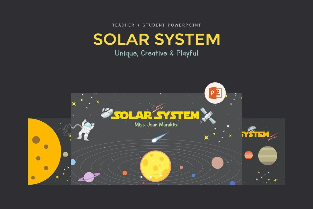 Solar System Education PPT Template