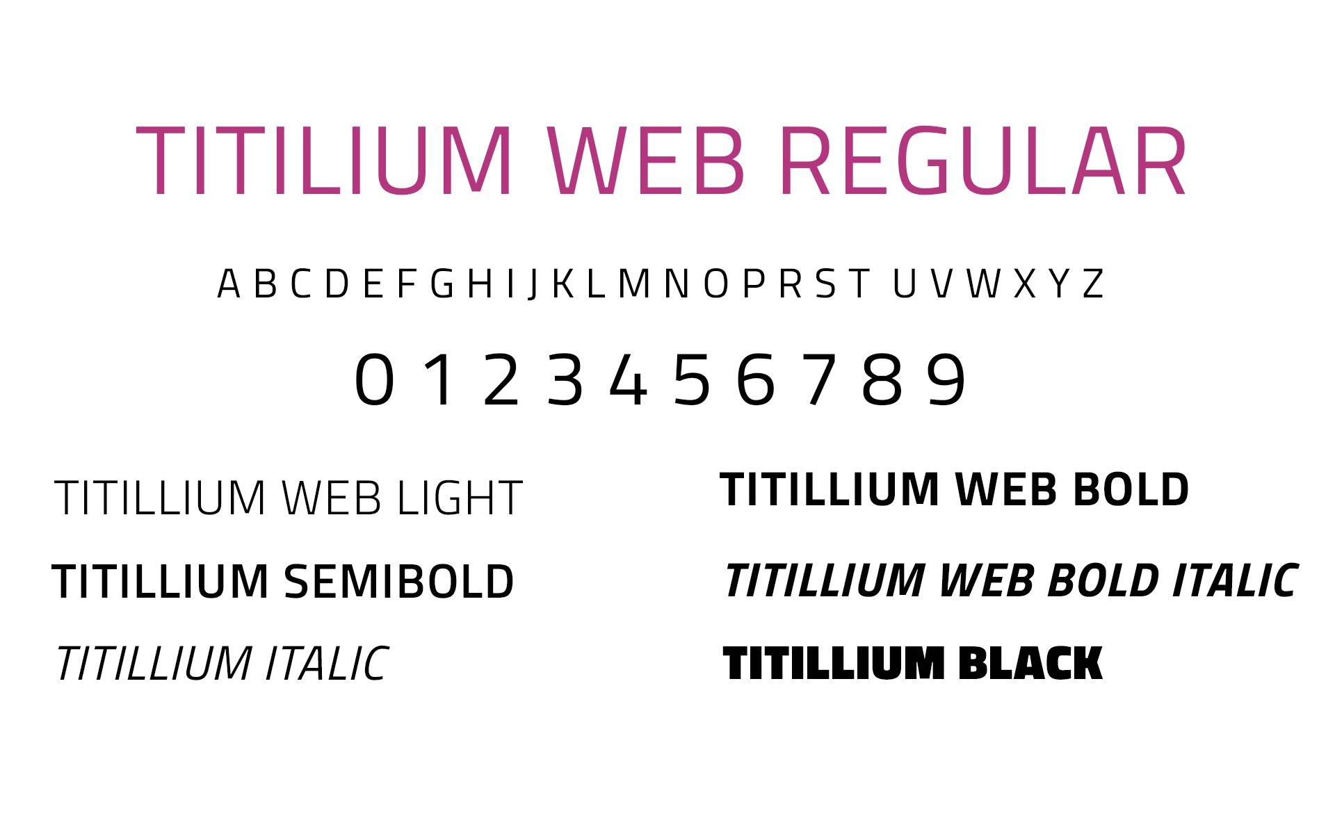 titillium web font